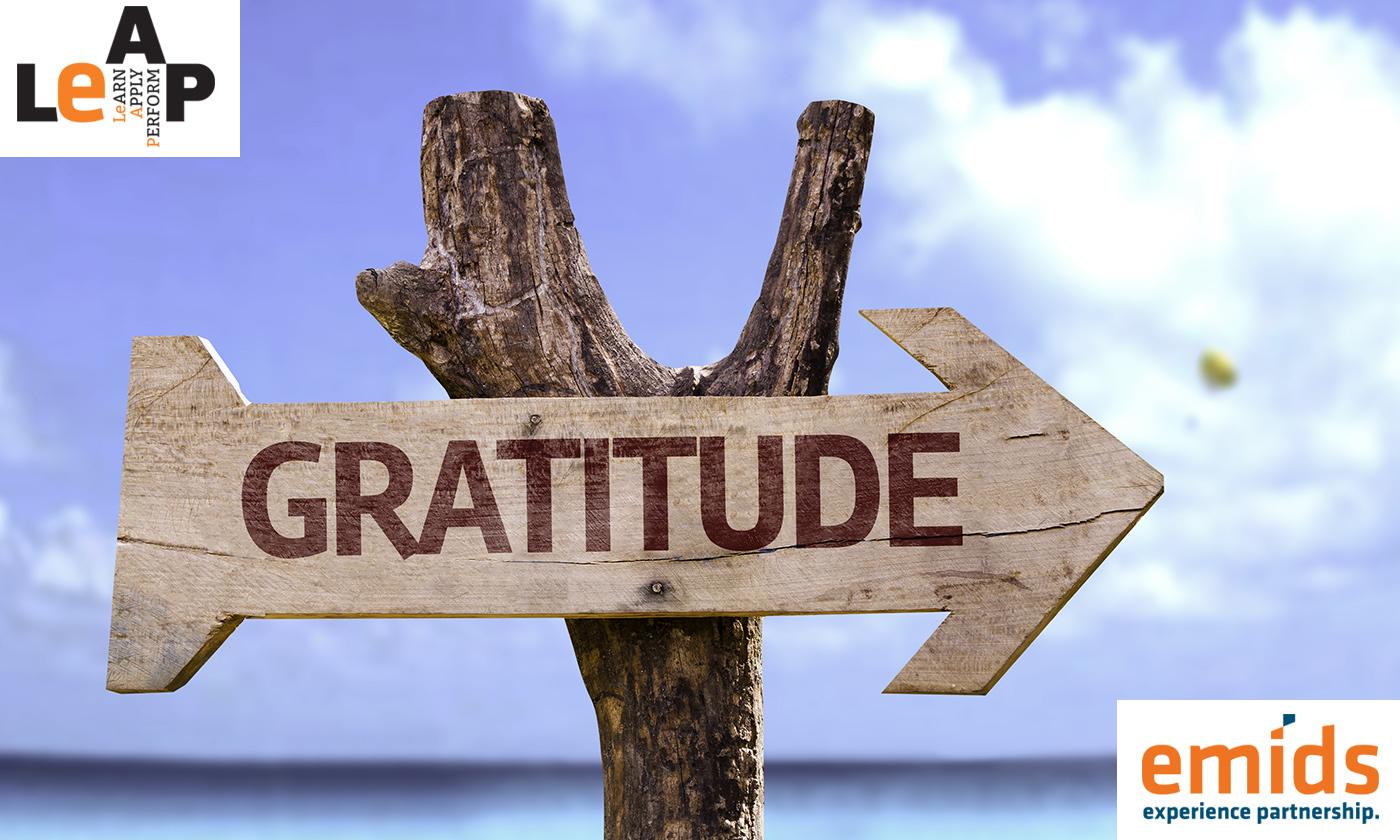 Tune into gratitude, create a happy workplace