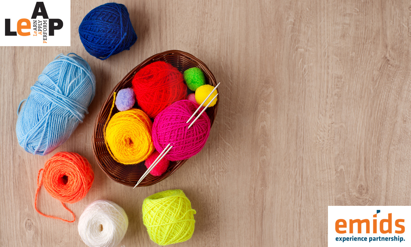 Knit your way to better work performance