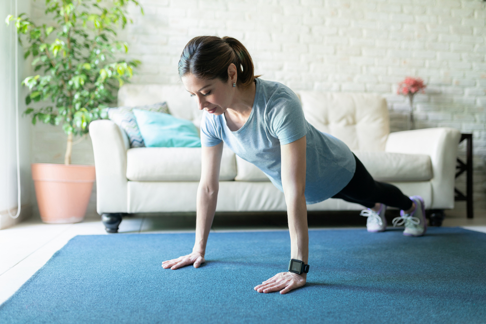 Workout to work well, even at home