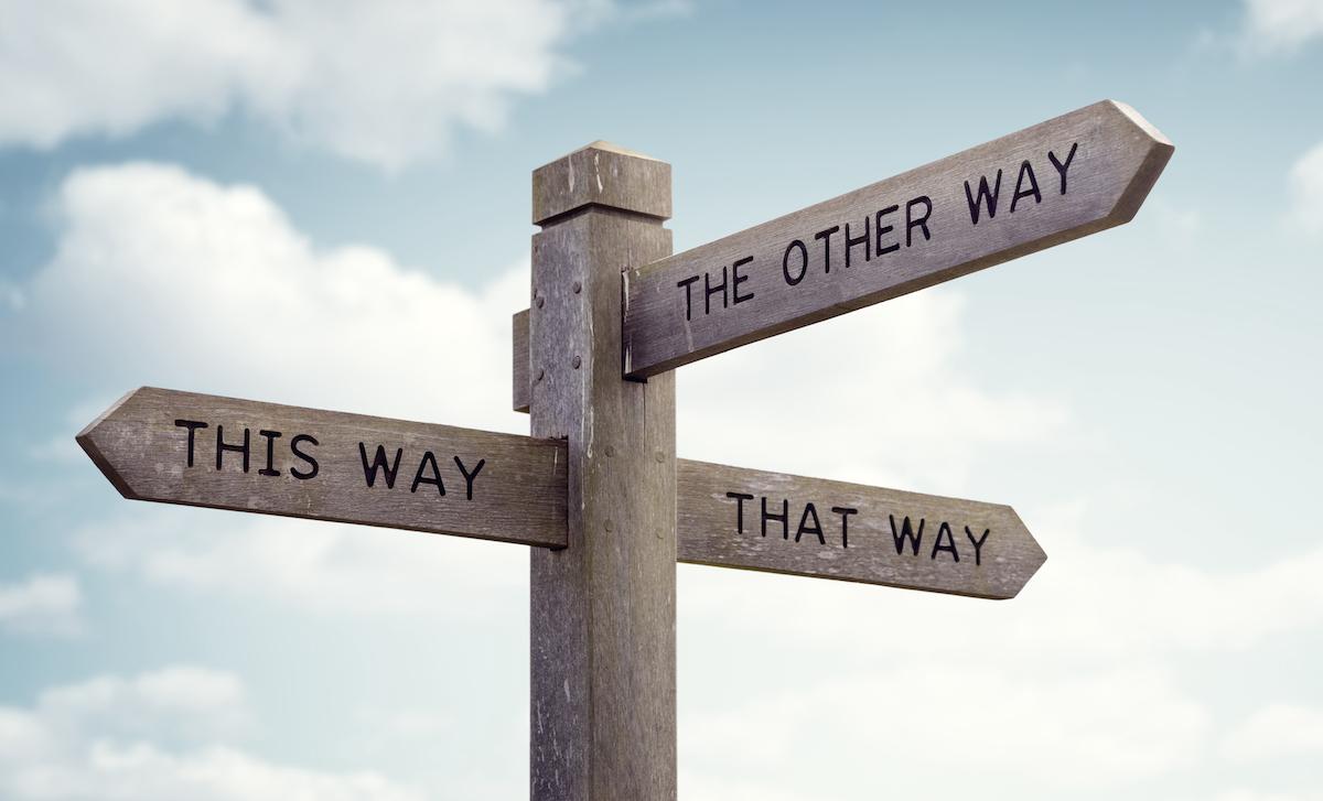 Making it past the crossroads: choosing between options